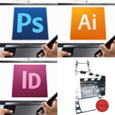 Photoshop, Illustrator, Indesign, Audio/Video für das Web